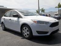 CARFAX One-Owner. White 2015 Ford Focus S FWD 6-Speed