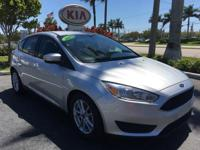 2015 Ford Focus SE in Silver and Local Trade. Gasoline!