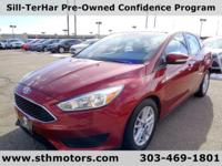 Our One Owner 2015 Ford Focus SE Sedan in Red offers