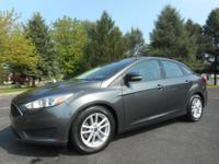Certified. Gray 2015 Ford Focus SE FWD 6-Speed