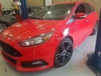 CARFAX One-Owner. Red 2015 Ford Focus ST FWD 6-Speed
