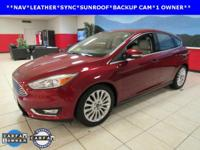 ONE OWNER, BACKUP CAM, LEATHER, NAVIGATION, SUNROOF,