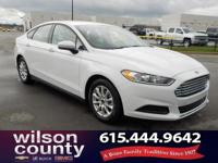 2015 Ford Fusion S 2.5L iVCT Oxford White Clean CARFAX.