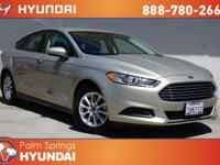 CARFAX One-Owner. Gold 2015 Ford Fusion S FWD 6-Speed