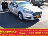 Clean CARFAX. This 2015 Ford Fusion S in Silver