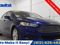 CARFAX One-Owner. Blue 2015 Ford Fusion SE FWD 6-Speed