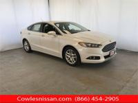 CARFAX One-Owner. White 2015 Ford Fusion SE FWD 6-Speed