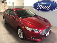 New Price! Certified. 2015 Ford Fusion SE Ruby Red