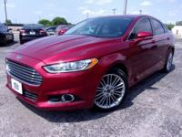 New Price! Red 2015 Ford Fusion SE FWD 6-Speed