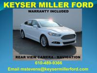 CARFAX One-Owner. Oxford White 2015 Ford Fusion SE