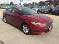 New+Price%21+6-Speed+Automatic.+2015+Ford+Fusion+Red+SE