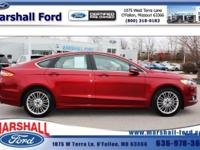 Ford CERTIFIED. This gas-saving 2015 Ford Fusion SE