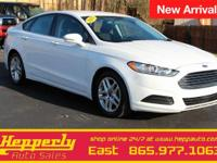 Clean CARFAX. This 2015 Ford Fusion SE in Oxford White
