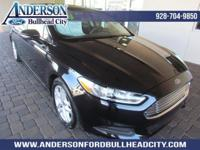 Certified. Black 2015 Ford Fusion SE FWD 6-Speed