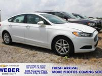 New Price! Recent Arrival! Oxford White Ford Fusion