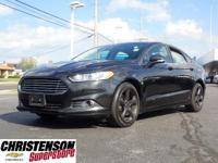 Black 2015 Ford Fusion SE FWD 6-Speed Automatic 2.5L