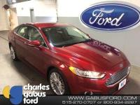 Certified. 2015 Ford Fusion SE Ruby Red Tinted