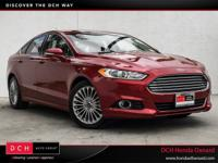 CARFAX One-Owner. Milano Red 2015 Ford Fusion Titanium