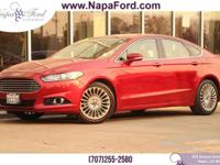FORD CERTIFIED PRE-OWNED 2015 Ford Fusion EcoBoost 2.0L