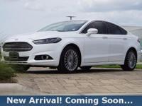 2015 Ford Fusion Titanium in Oxford White, This Fusion