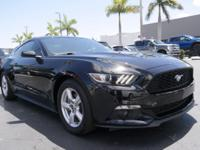 CARFAX One-Owner. Certified. Black 2015 Ford Mustang