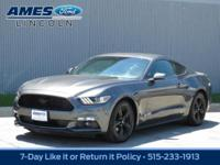 Our 2015 Ford Mustang EcoBoost Coupe is presented in