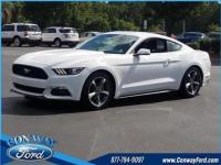 21/32 City/Highway MPG Bright White 2015 Ford Mustang