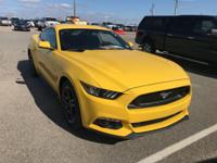 CARFAX One-Owner. Certified. Yellow 2015 Ford Mustang
