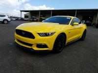 Yellow 2015 Ford Mustang GT Premium RWD 6-Speed Manual