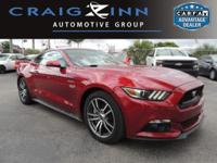 CarFax 1-Owner, This 2015 Ford Mustang GT Premium will