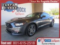 CARFAX One-Owner. Clean CARFAX. Gray 2015 Ford Mustang