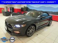 ONE OWNER, LEATHER, and NAVIGATION. Mustang GT Premium,