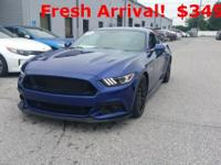 Clean CARFAX. Blue 2015 Ford Mustang GT Premium RWD