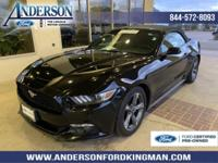 Certified. Black 2015 Ford Mustang V6 RWD 6-Speed
