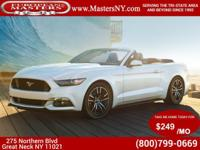 This Sleek White 2015 Ford Mustang V6 Convertible Comes