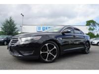 Clean CARFAX. Black 2015 Ford Taurus Limited FWD