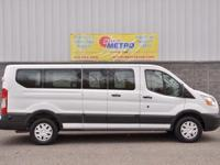 2015 Ford Transit-350 XLT  in White and ONE OWNER.