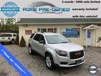 Silver 2015 GMC Acadia SLE-1 AWD 6-Speed Automatic 3.6L