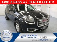 Check out the LOW MILES on this AWD Acadia SLE-2 in