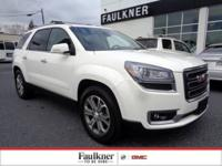 Summit White Acadia 3.6L V6 SIDI SLT-2 New Price!