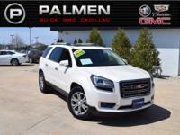 White Diamond Clearcoat 2015 GMC Acadia SLT-1 AWD