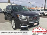 The Acadia has a 3.6 liter V6 Cylinder Engine high