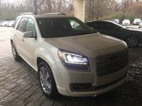 CARFAX One-Owner. Clean CARFAX. Pearl 2015 GMC Acadia