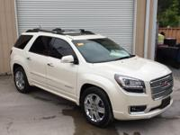 Clean CARFAX. White Diamond Clearcoat 2015 GMC Acadia