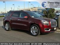 Options:  2015 Gmc Acadia Denali|Red|Carfax One-Owner.