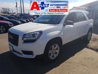 CARFAX One-Owner. Clean CARFAX. White 2015 GMC Acadia