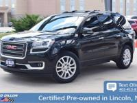 Safe and reliable, this 2015 GMC Acadia SLT makes room
