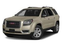 White 2015 GMC Acadia SLT-1 FWD 6-Speed Automatic 3.6L