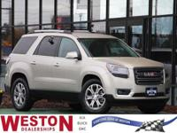 CARFAX One-Owner. 2015 GMC Acadia SLT-2 Silver One