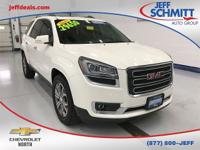 Certified. 2015 Summit White GMC Acadia AWD SLT-1 *ONE